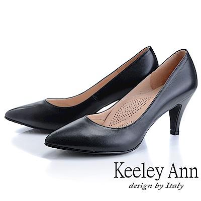 Keeley Ann慵懶盛夏 MIT面試必備高跟鞋(黑色)