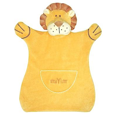 美國miYim有機棉手偶安撫巾-里歐獅子