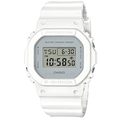 G-SHOCK 經典潮流簡單數位設計概念休閒錶(DW-5600CU-7)白-42.8mm