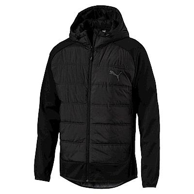 PUMA-男性基本系列Hybrid鋪棉外套-黑色-亞規