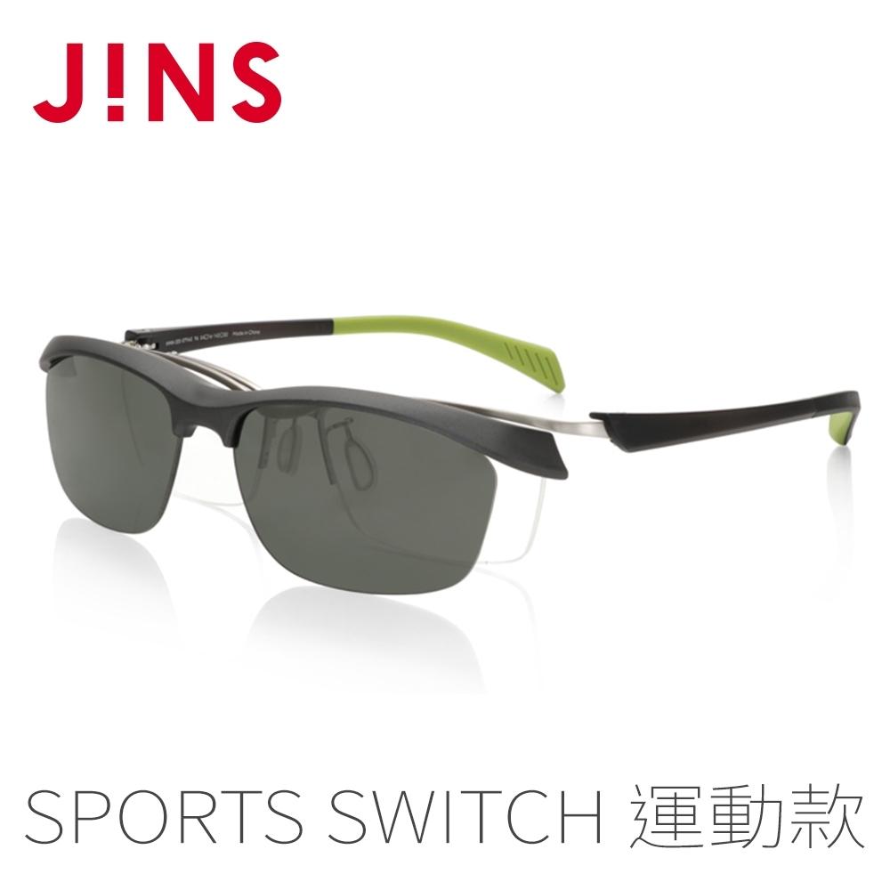 JINS Sports Switch 運動用磁吸式眼鏡-偏光鏡片(AMMN20S079)黑銀