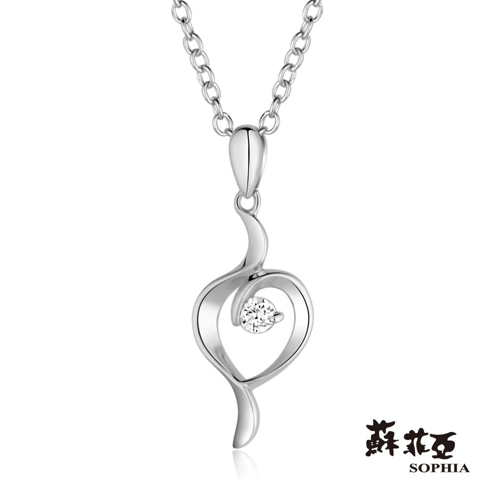 SOPHIA 蘇菲亞珠寶 - Memory系列 14K白金 鑽石項鍊