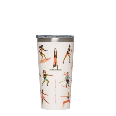 CORKCICLE酷仕客RIFLE PAPER系列三層真空寬口保溫杯470ml-運動女孩