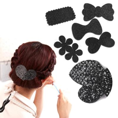 韓國kiret 時尚黑亮片髮貼/瀏海貼 超值3入組