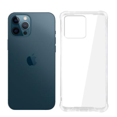 【SHOWHAN】iPhone 12 Pro Max 四角強化TPU矽膠+PC背板氣囊防摔空壓殼