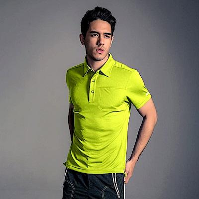 GFun 男款立領POLO衫-蘋果綠(G6URSM4-green)