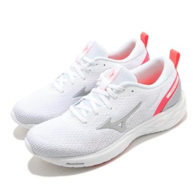 Mizuno 慢跑鞋 Wave Revolt 運動 女鞋 輕量 透氣 舒適 避震 路跑 健身 白 粉 J1GD208106