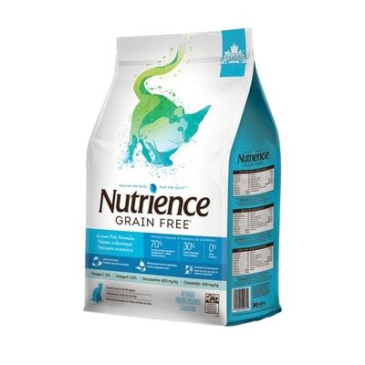 【2入組】Nutrience紐崔斯GRAIN FREE無穀養生貓-六種魚(深海鱈魚&漢方草本) 2.5kg(5.5lbs) 送全家禮卷50元*1張 購買第二件贈送寵鮮食零食*1包