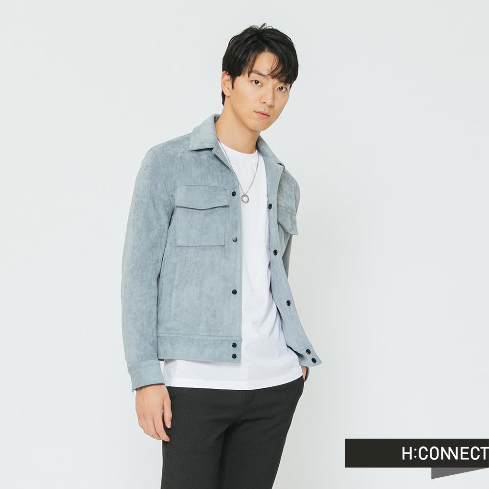 H:CONNECT 韓國品牌 男裝-雙口袋造型夾克外套-藍 @ Y!購物