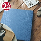 絲薇諾 MIT太空記憶坐墊-方格藍/2入組(54×56cm)