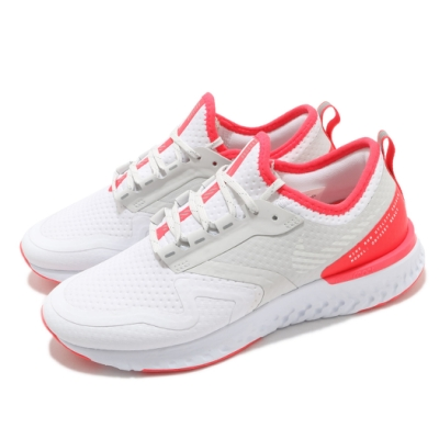 Nike 慢跑鞋 W Odyssey React 2 女鞋 Shield 防潑水 跑步 反光 緩震 白 紅 BQ1672100