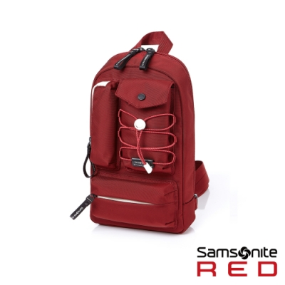 (6/1 10:00 ~6/21 10:00 送超贈點300) Samsonite RED MIRRE 時尚造型斜肩包(紅)