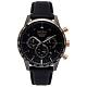 SEIKO 三眼計時皮革錶帶手錶(SSB361P1)-灰黑面X玫瑰金色/44mm product thumbnail 1