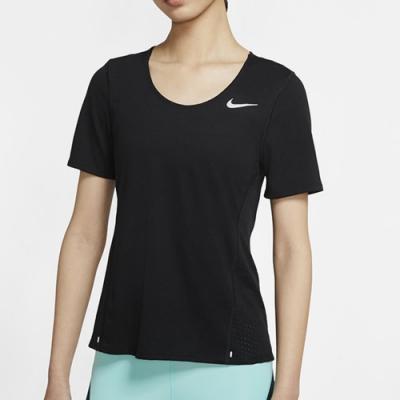 NIKE 短袖上衣 休閒 瑜珈 訓練 慢跑 黑 女款 CU3235010 AS W NK CITY SLEEK SOFT