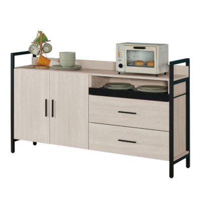 MUNA 伊凡卡5尺鐵架式餐櫃/收納櫃 150X40X90cm