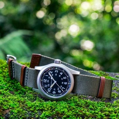 Hamilton 漢米爾頓 KHAKI FIELD 80小時動力卡其野戰軍風機械錶 H69439931