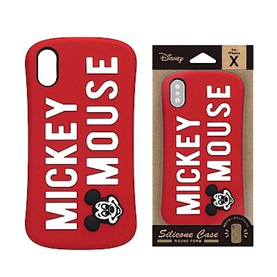 iPhone X 手機殼 迪士尼 可愛/矽膠 軟殼 5.8吋-米奇