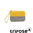 tripose漫遊系列岩紋x微皺尼龍多功能手拎袋(小)黃色