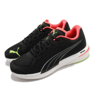 Puma 慢跑鞋 Velocity Nitro 運動 男鞋 輕量 透氣 舒適 避震 路跑 健身 黑 黃 19459612
