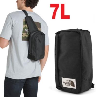 The North Face 新款 7L 多功能耐磨單肩側背包_黑 N