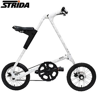 STRIDA速立達 16吋MULTICAM迷彩版皮帶碟剎三角形折疊單車-雪地迷彩