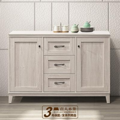 直人木業-COUNTRY日式鄉村風120公分精密陶板廚櫃
