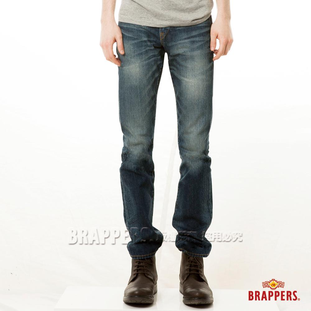 BRAPPERS 男款 新美腳Royal系列-中窄直筒褲-藍