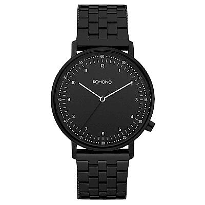 KOMONO Lewis Mesh 腕錶-性格黑/40mm