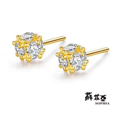 蘇菲亞SOPHIA - GoldShine系列細雪黃金耳環