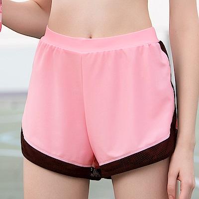 華歌爾-專業運動  M-LL 短褲(粉)吸濕快乾
