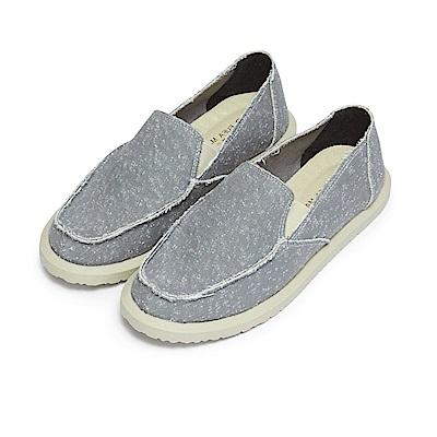 BuyGlasses 多色縫邊質感懶人鞋-灰