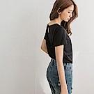 台灣製造~Scafe冰咖啡紗涼感抗UV後鏤空圓領上衣-OB嚴選