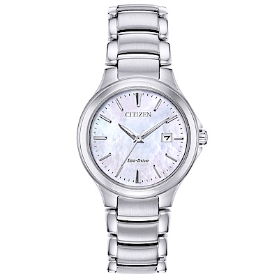 CITIZEN 星辰 典雅女神時尚手錶 EW2520-56Y-珍珠貝X銀/30mm