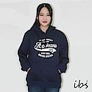 ibs美式印花連帽T(丈青-女)