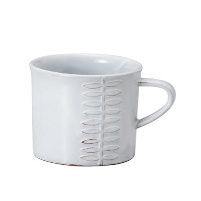 日本 MEISTER HAND FLOR 馬克杯葉-白