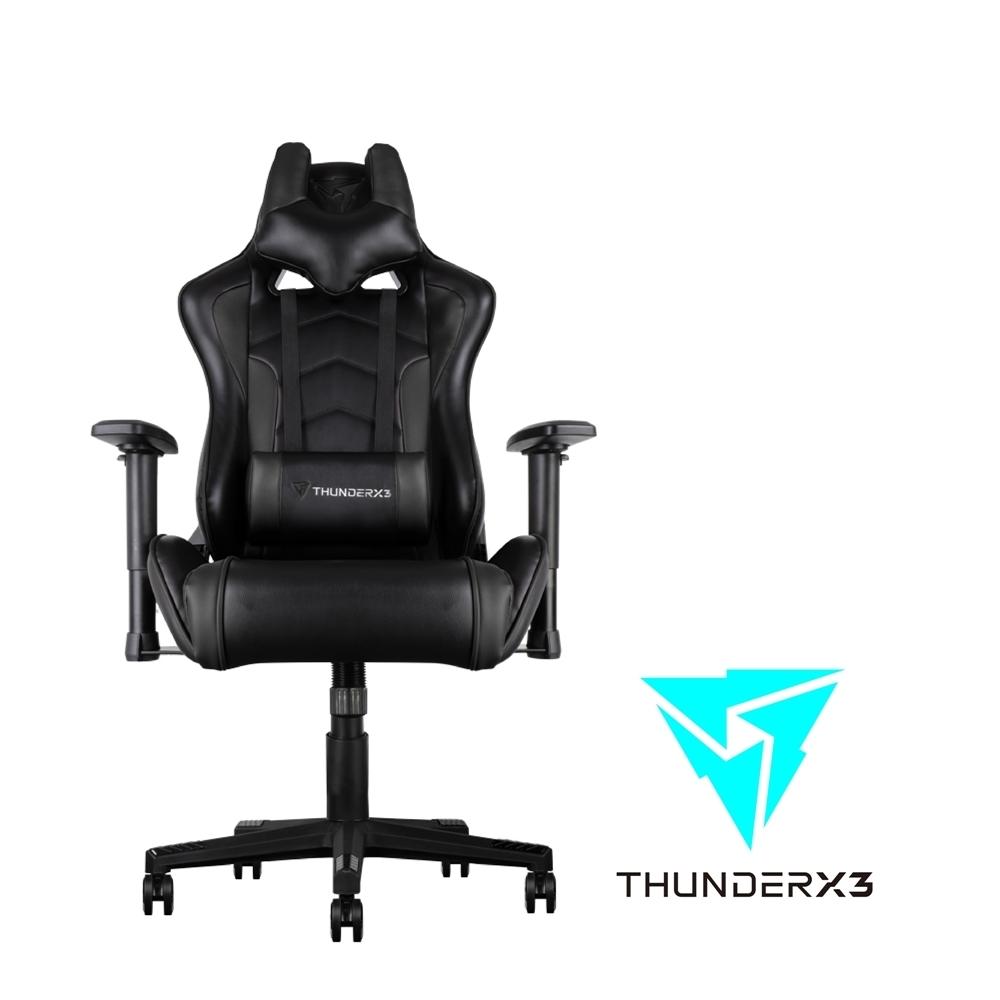 【ThunderX3】TGC22 競速超跑電競賽車椅(尊爵黑)