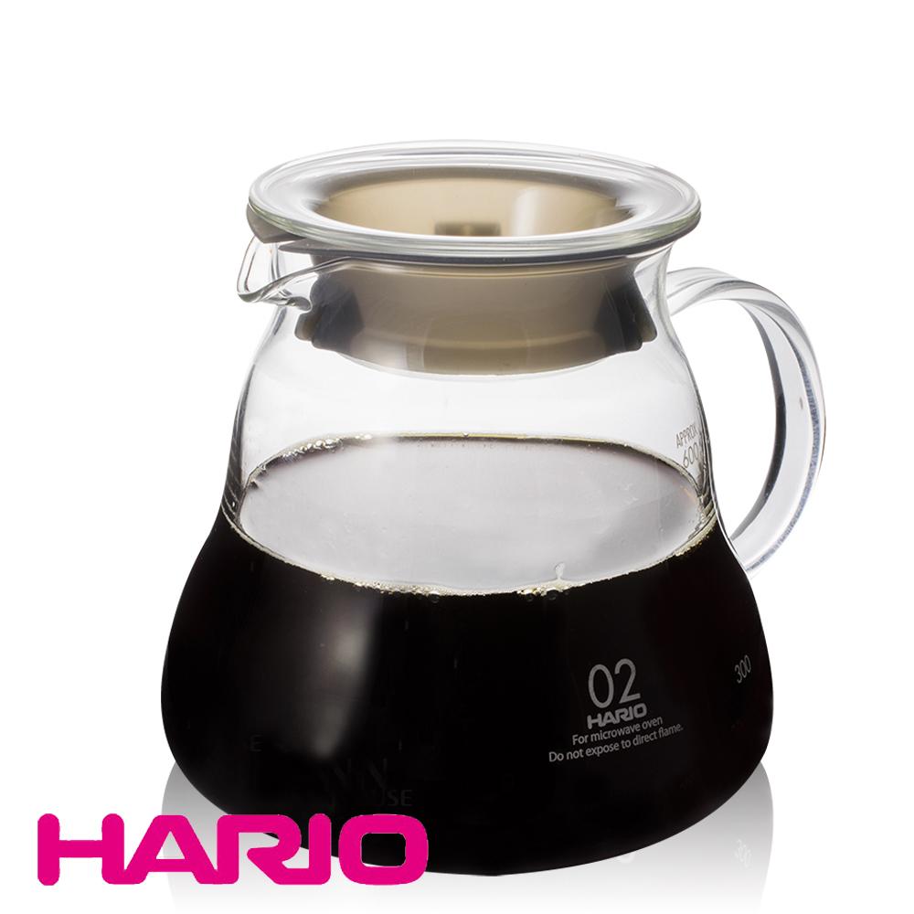 【日本 HARIO】V60雲朵耐熱微波咖啡壺600ml(XGT-60TB)