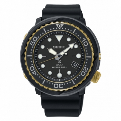 SEIKO PROSPEX 廣告款太陽能潛水橡膠腕錶/V157-0CX0X/SNE498P1