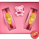 A+ 天使寶寶 999千足黃金手牌套組彌月禮盒(0.1錢)