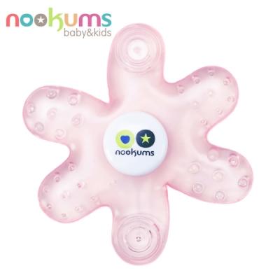 nookums 美國  寶寶可愛造型冷膠固齒器 - 粉色