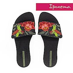 IPANEMA 艷夏派對夾腳拖鞋-黑色/綠色