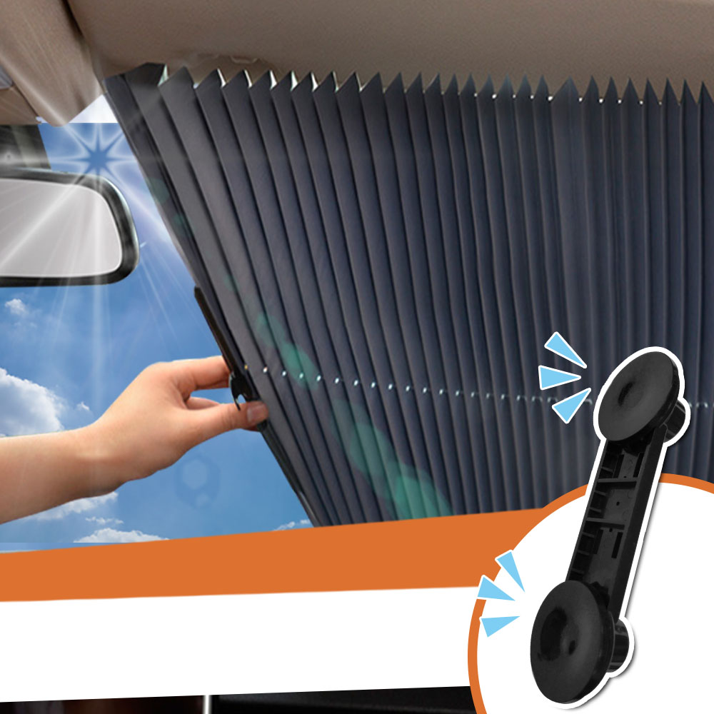 【Effect】汽車抗UV前擋伸縮隔熱遮陽簾(1入)