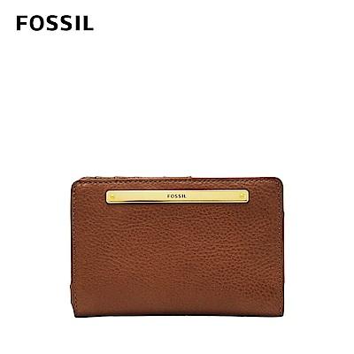 FOSSIL 母親節優惠 LIZA輕巧型真皮短夾-棕色 SL7986200