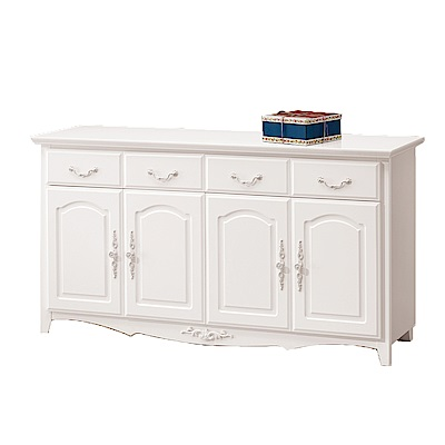 H&D 白色5.3尺碗盤櫃下座