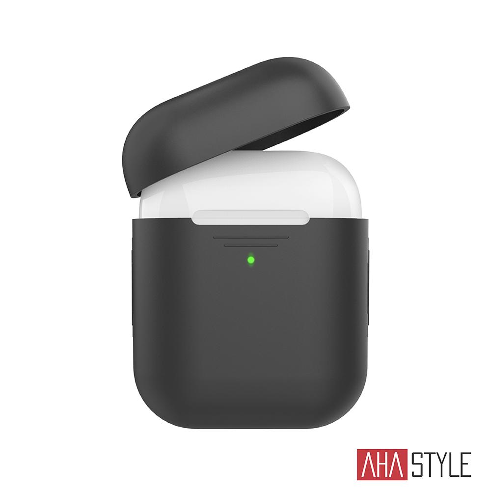 AHAStyle AirPods 1&2代矽膠保護套-黑色 1.4mm超薄款