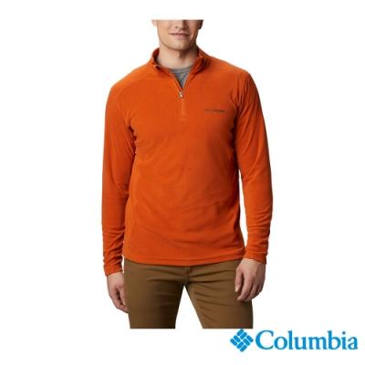 Columbia 哥倫比亞 男款 - Omni Shade 防曬50半開襟刷毛上衣-橘黃 UEE65030OY