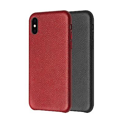 QIALINO Apple iPhone X/Xs 荔枝紋真皮背套