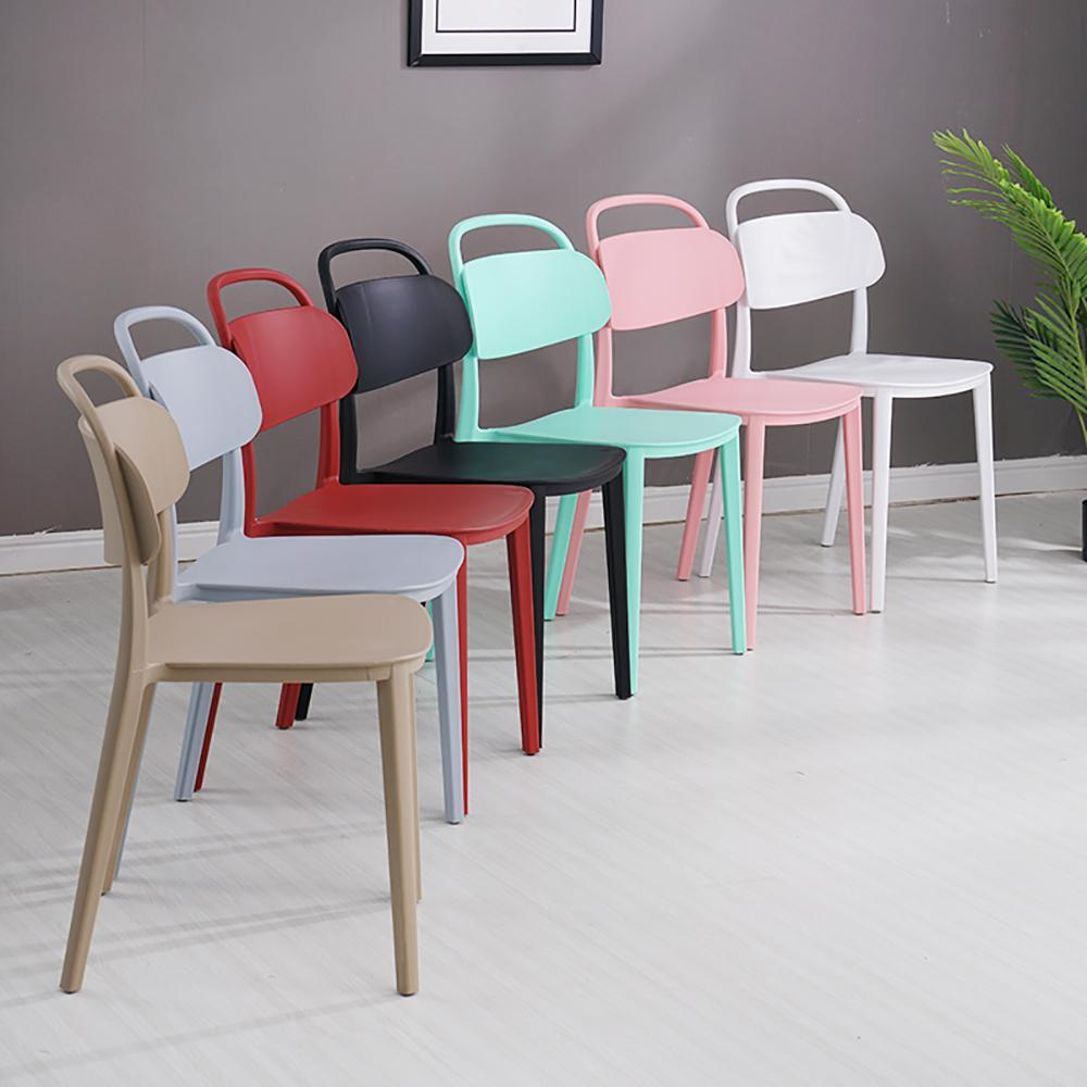 【日居良品】美式弧形美背時尚餐椅/休閒椅(7色可選)