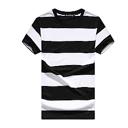 BuyGlasses 輕爽條紋棉質短袖上衣