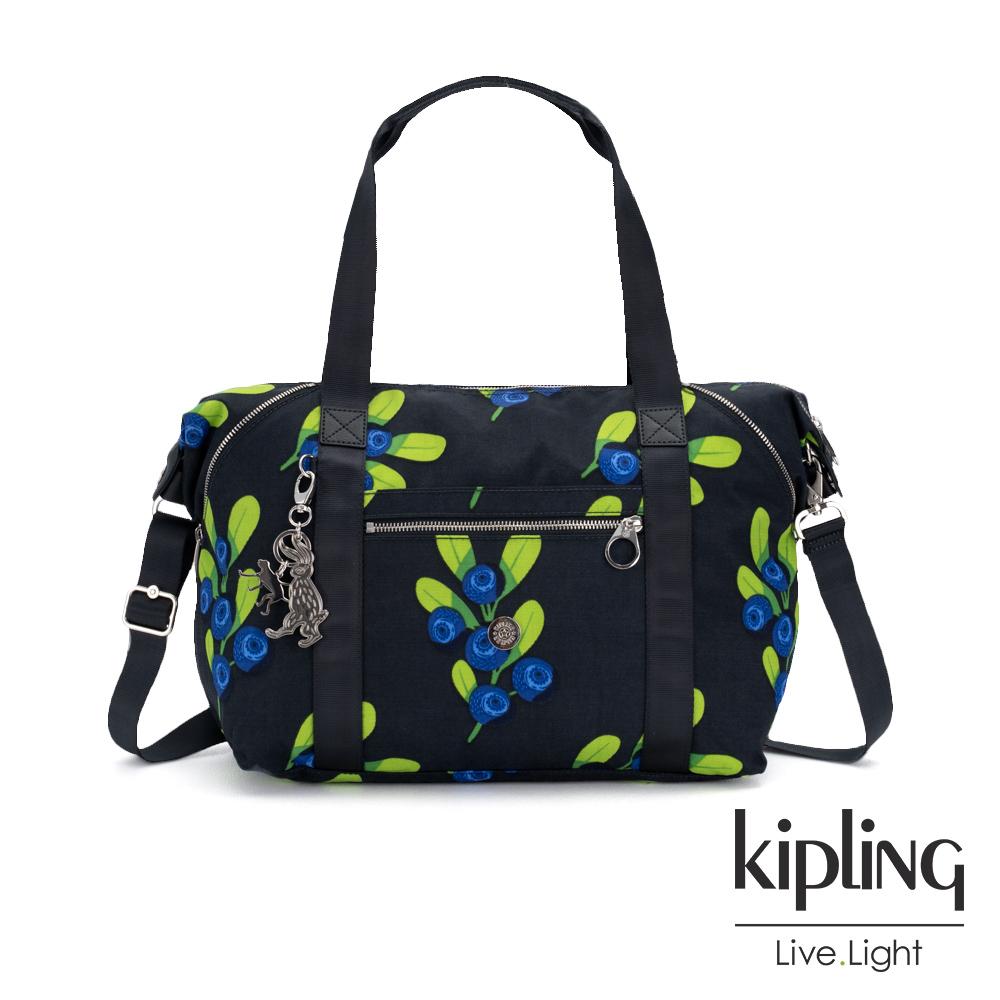 Kipling x HELEN LEE聯名款-酸甜藍莓圖騰手提側背包-ART